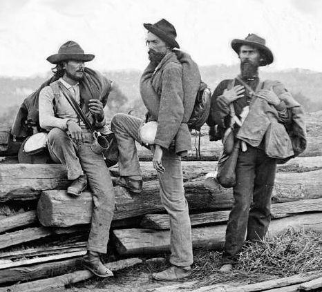 Three Confederate prisoners at Gettysburg