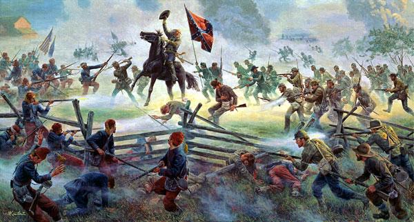 Barksdale's brigade in the assualt